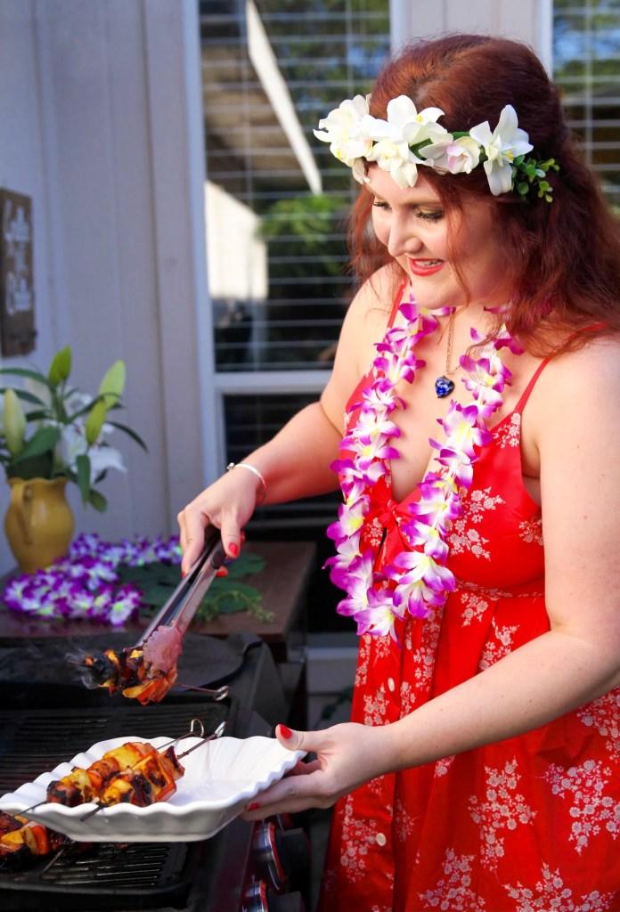Hawaiian Pineapple Pork Skewers