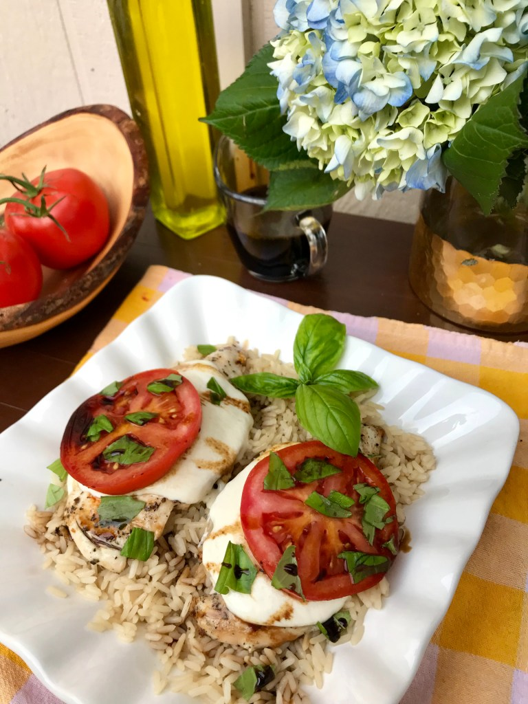 Grilled Chicken Caprese O Organics Air Chilled Chicken Recipe | The Rose Table
