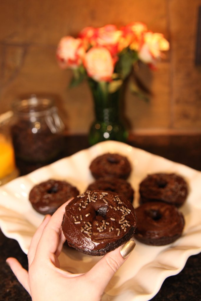 Dark Chocolate Doughnuts   The Rose Table