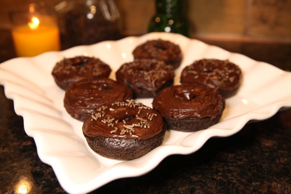 Dark Chocolate Doughnuts | The Rose Table