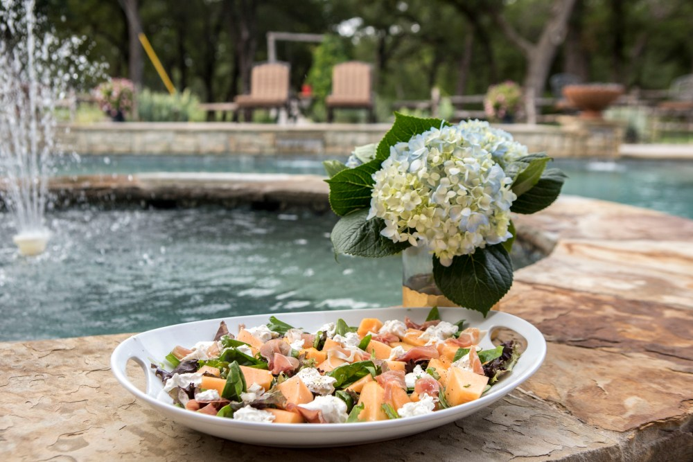 Prosciutto Cantaloupe Burrata Salad | The Rose Table