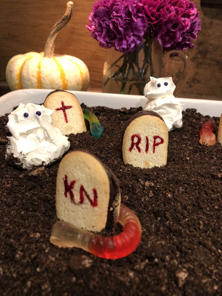Ghosts inthe Graveyard with Whipped Cream | The Rose Table