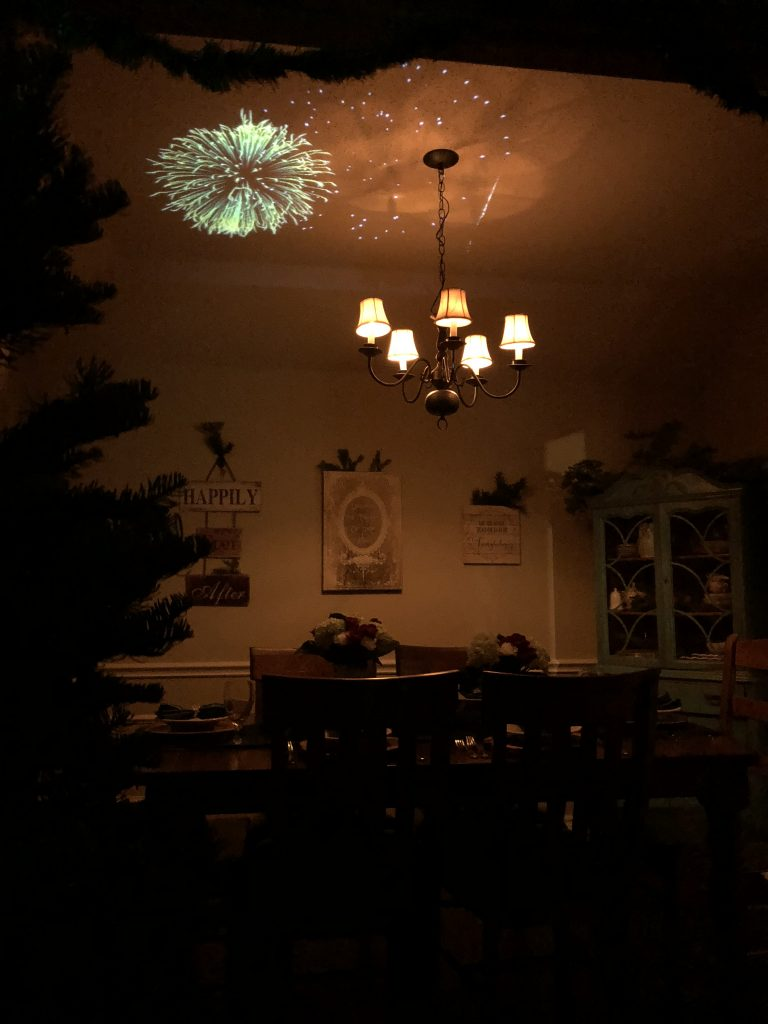 How to Project Fireworks on Your Ceiling with Atmos FX   The Rose Table