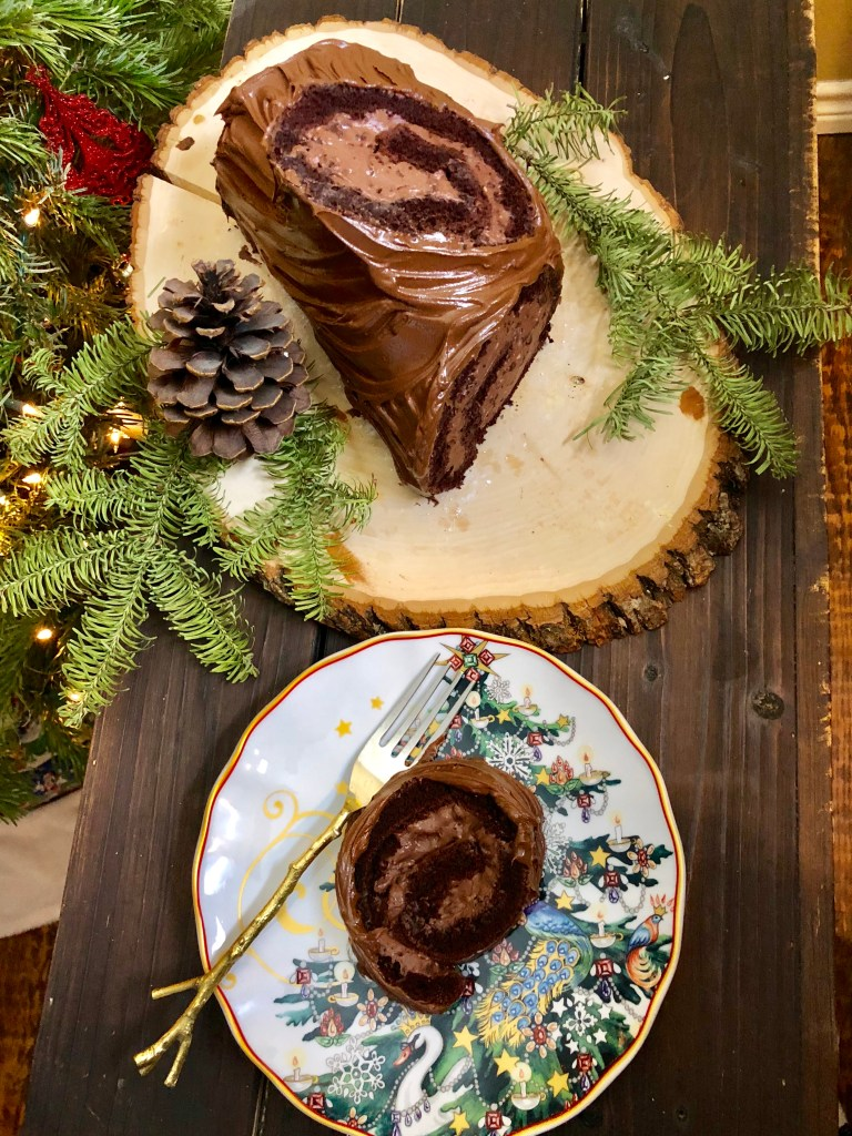 Dark Chocolate Bûche de Noël | The Rose Table