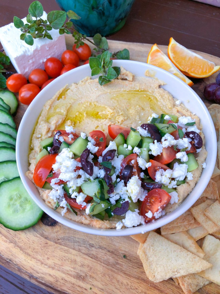Loaded Greek Hummus with Feta, Best Homemade Hummus Recipe | The Rose Table