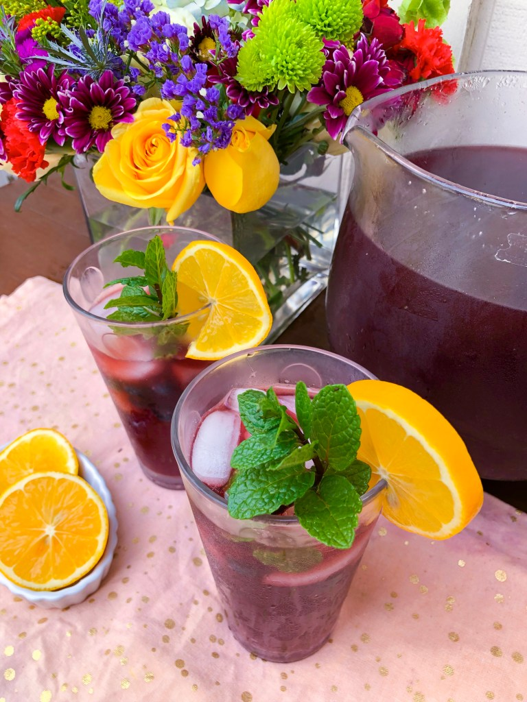 Lemon Blueberry Mint Iced Tea, Best Iced Tea Recipes | The Rose Table
