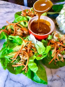Chicken Lettuce Wraps with Peanut Sauce   The Rose Table