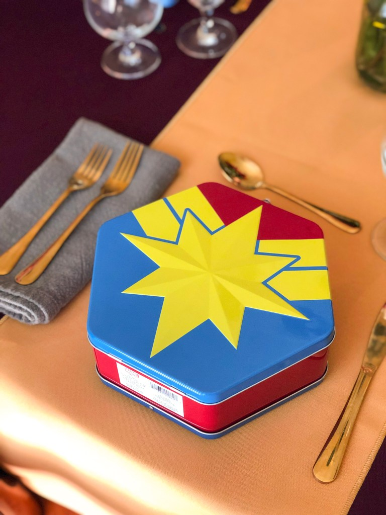 Captain Marvel Food, Recipes, Party ideas | The Rose Table