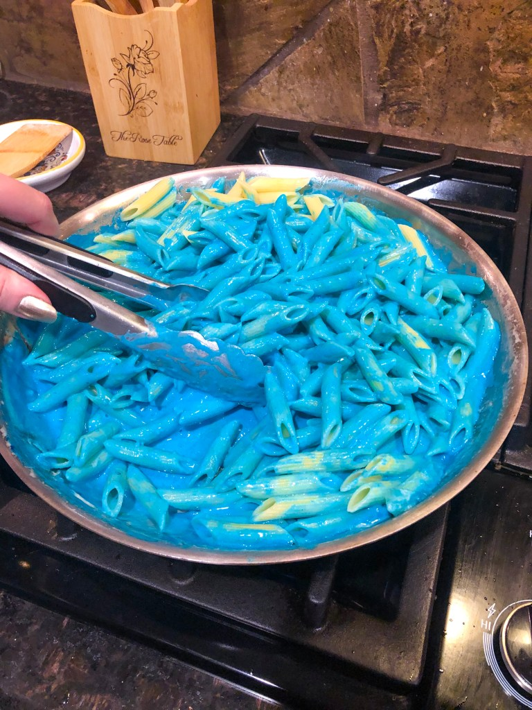 Kree Blood Pasta, Captain Marvel Party Food Recipe