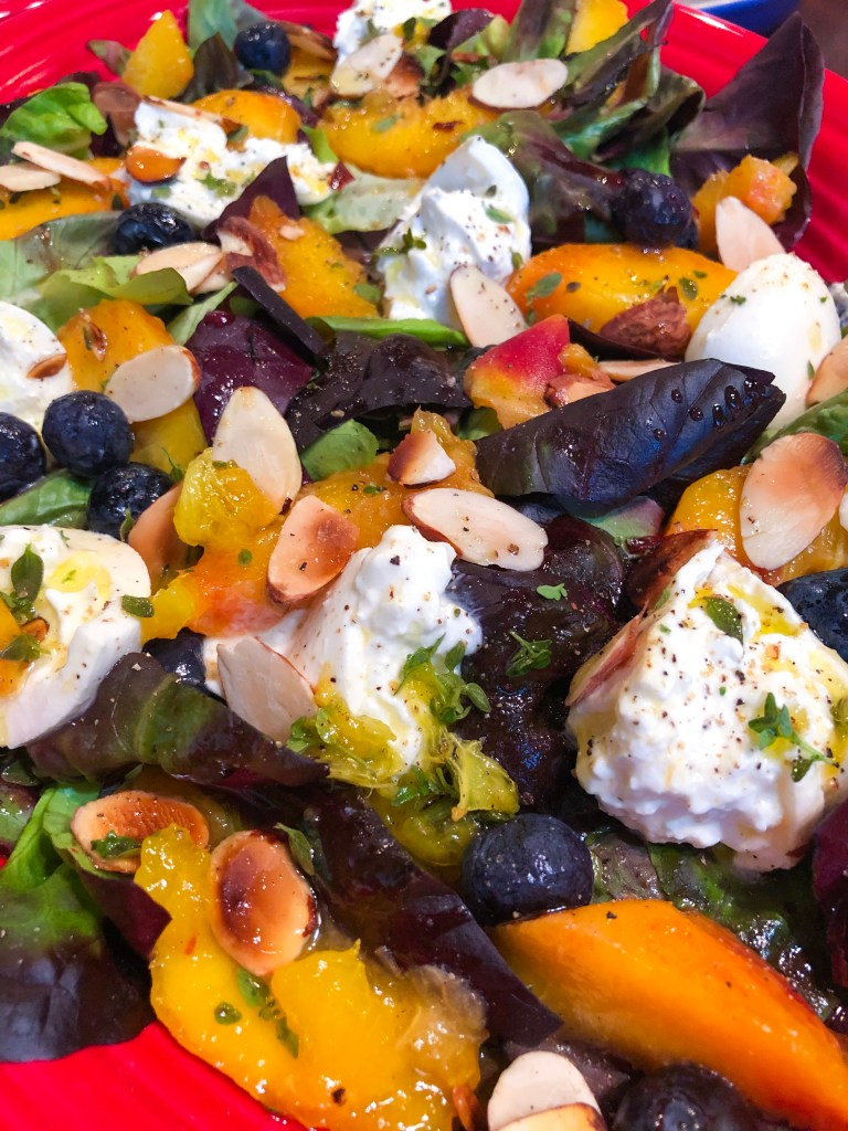 Peach Burrata Salad