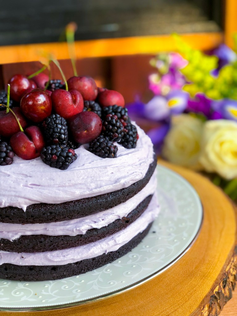 Chocolate Lavender Dream Cake
