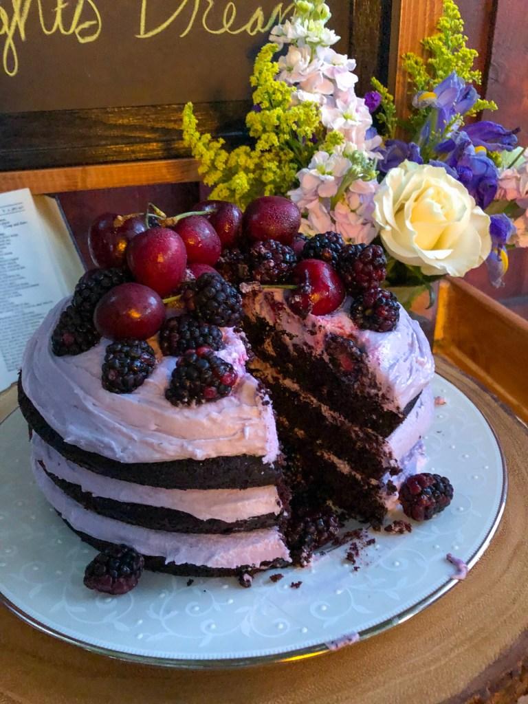 Chocolate Lavender Dream Cake