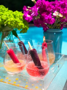 Popsicle Champagne: Easy, No Bake Summer Dessert