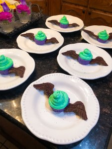 Winged Creature Cheesecake, Disney Maleficent Party Food