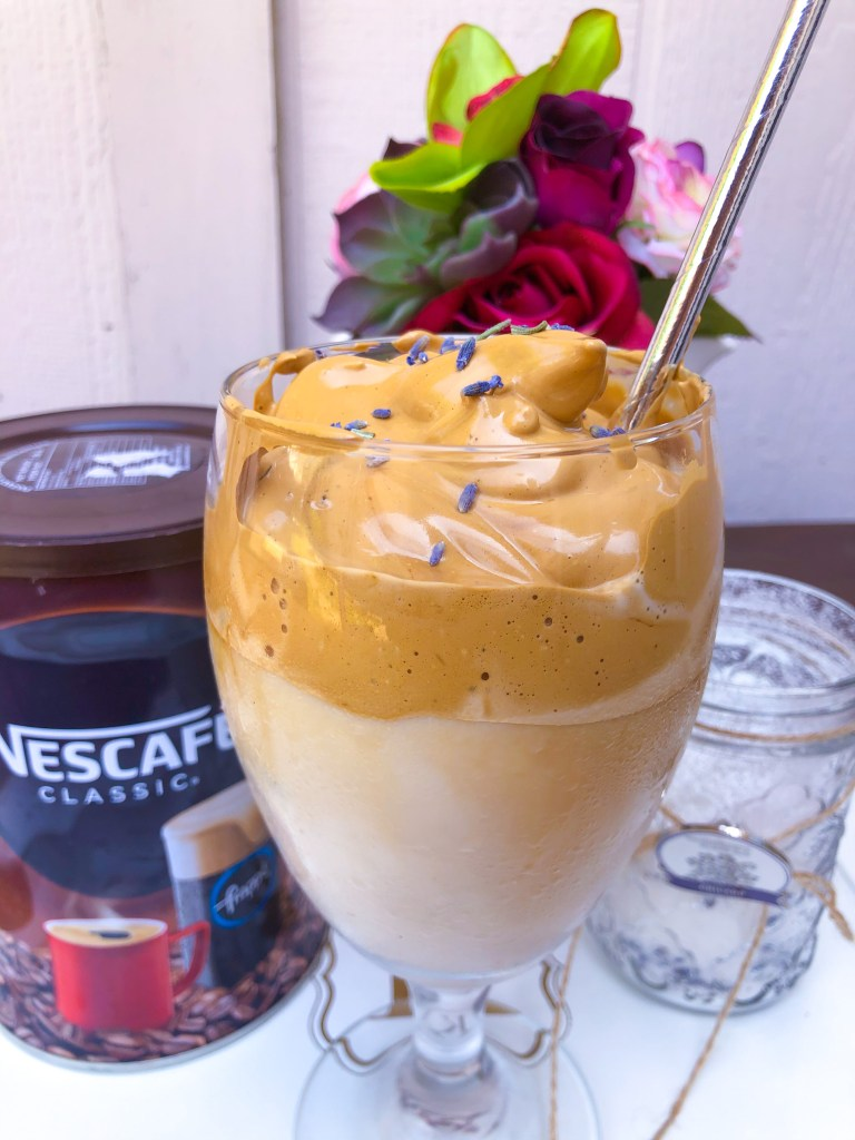 Lavender Dalgona Coffee