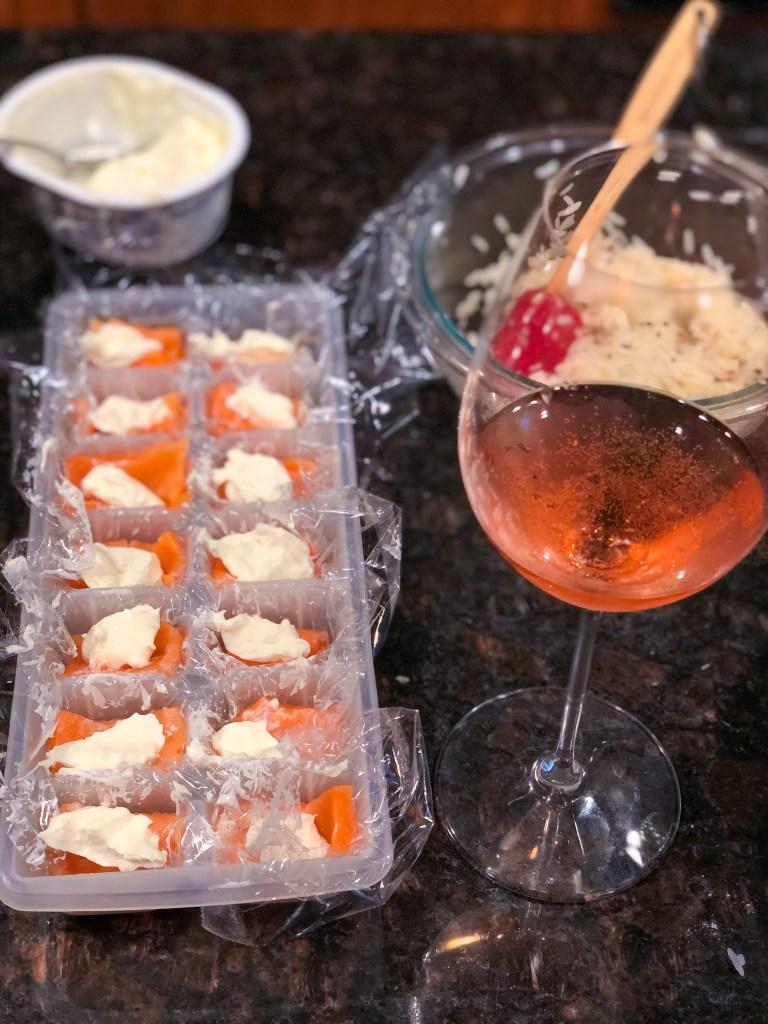 Ice Cube Tray Salmon Sushi