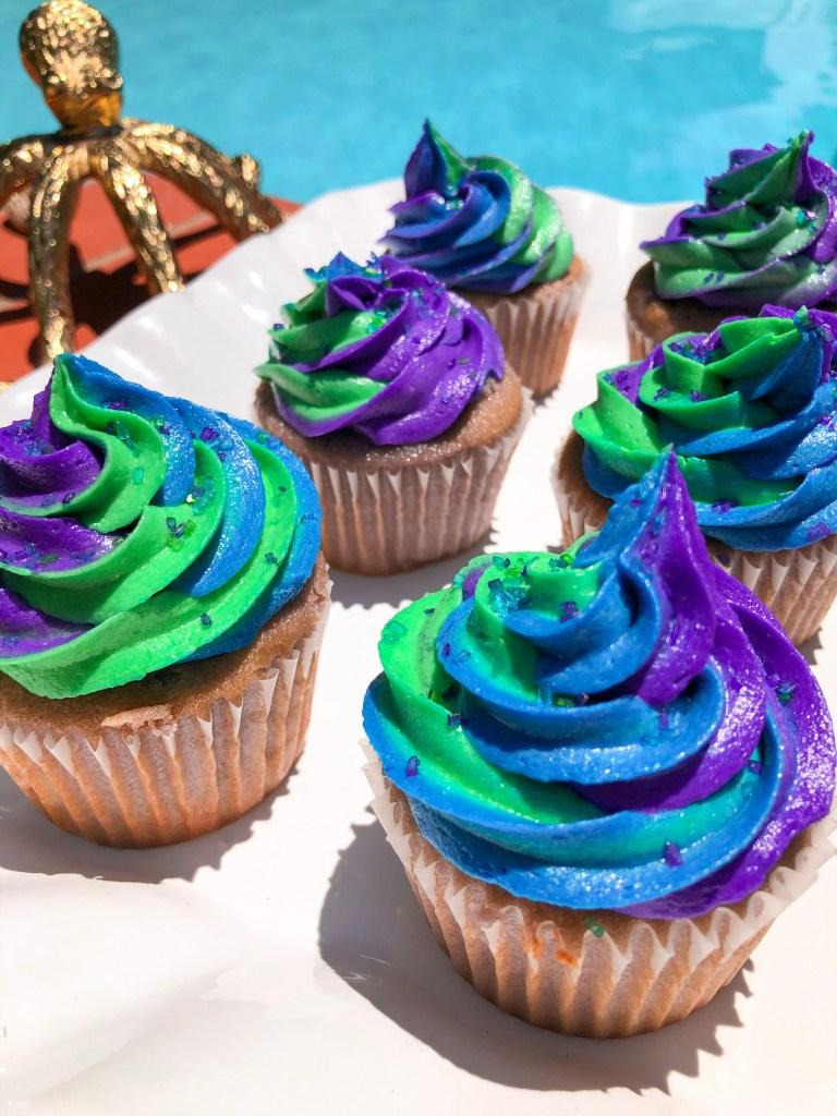 Sea Witch Cupcakes, Disney Ursula Recipe