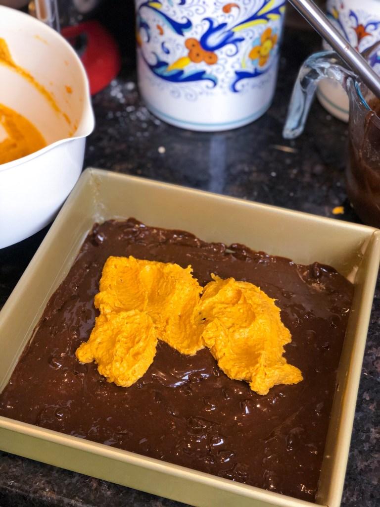 Fairytale Pumpkin Cheesecake Brownies