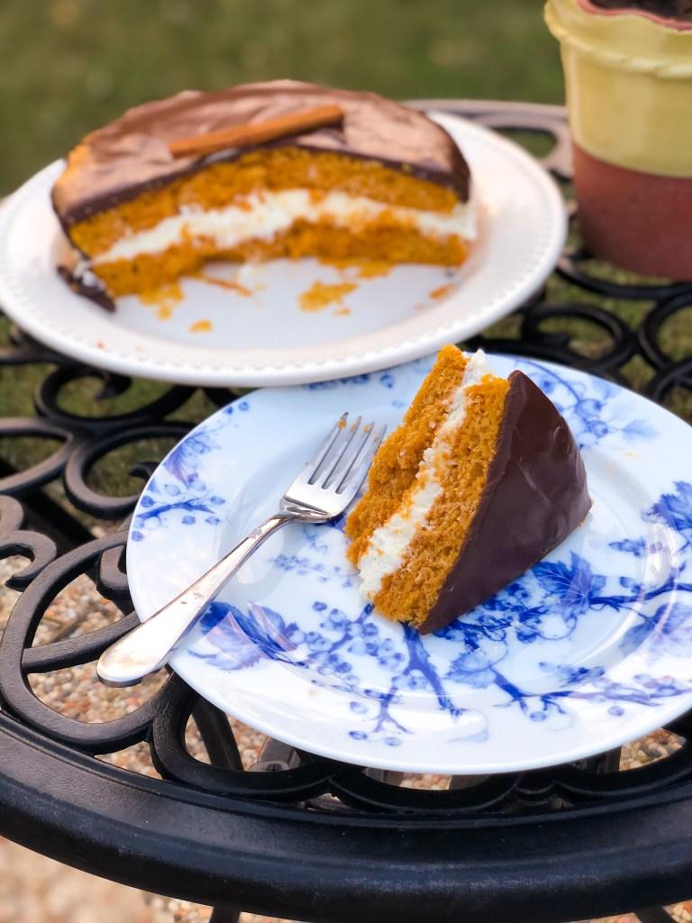 Fairytale Pumpkin Layer Cake Ganache Cream Cheese