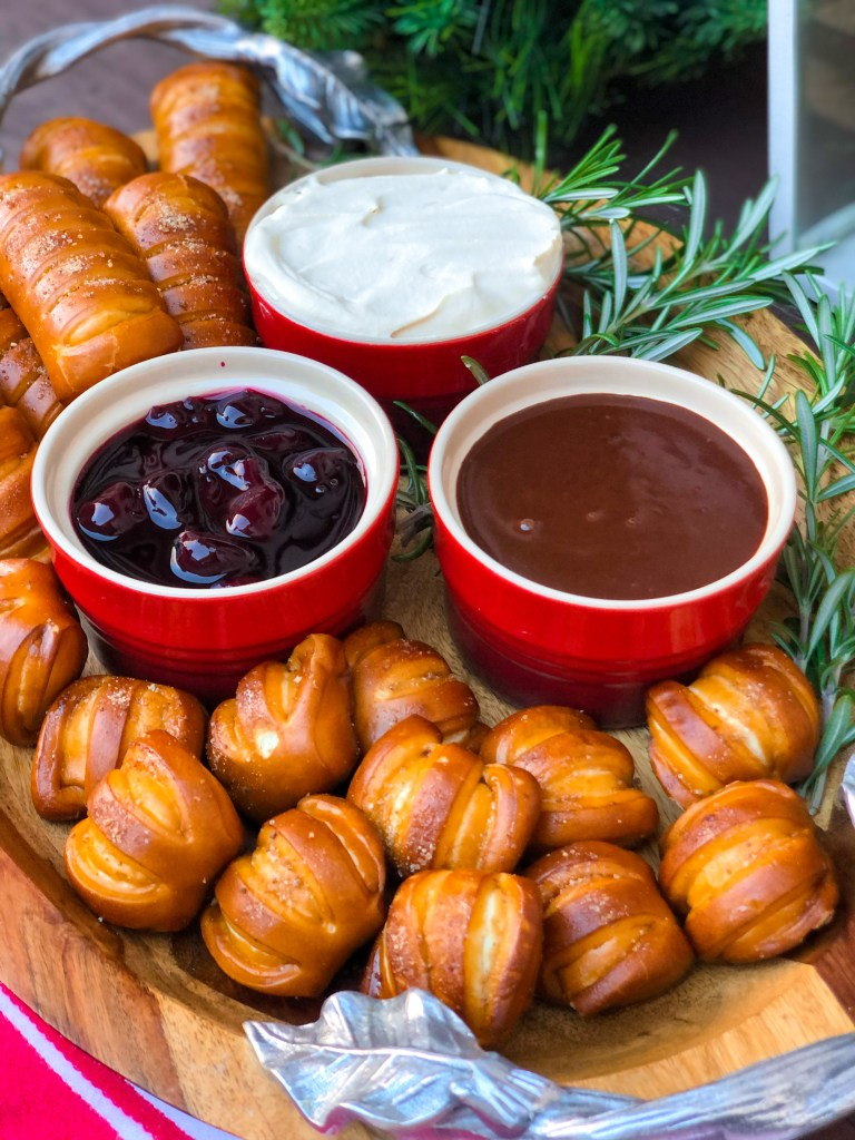 Black Forest Pretzel Board, Oktoberfest German Dessert Food Party Ideas