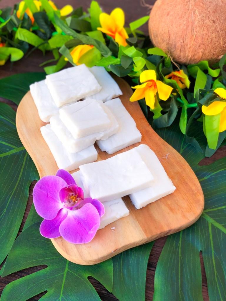 Haupia (Hawaiian Coconut Pudding) Christmas Luau Food Recipes