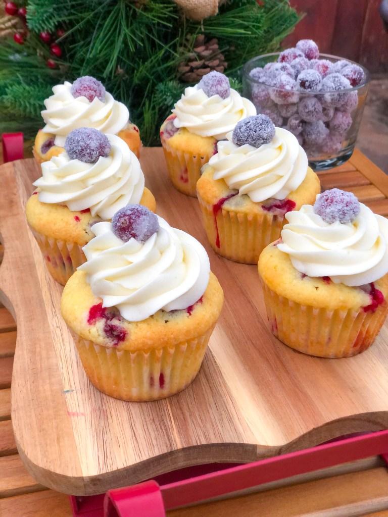Cranberry Christmas Cupcakes