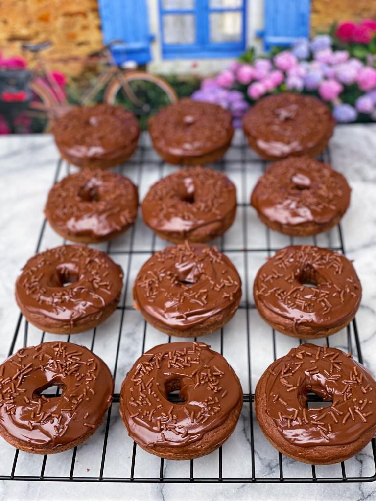 Homemade Chocolate Doughnuts (Baked)