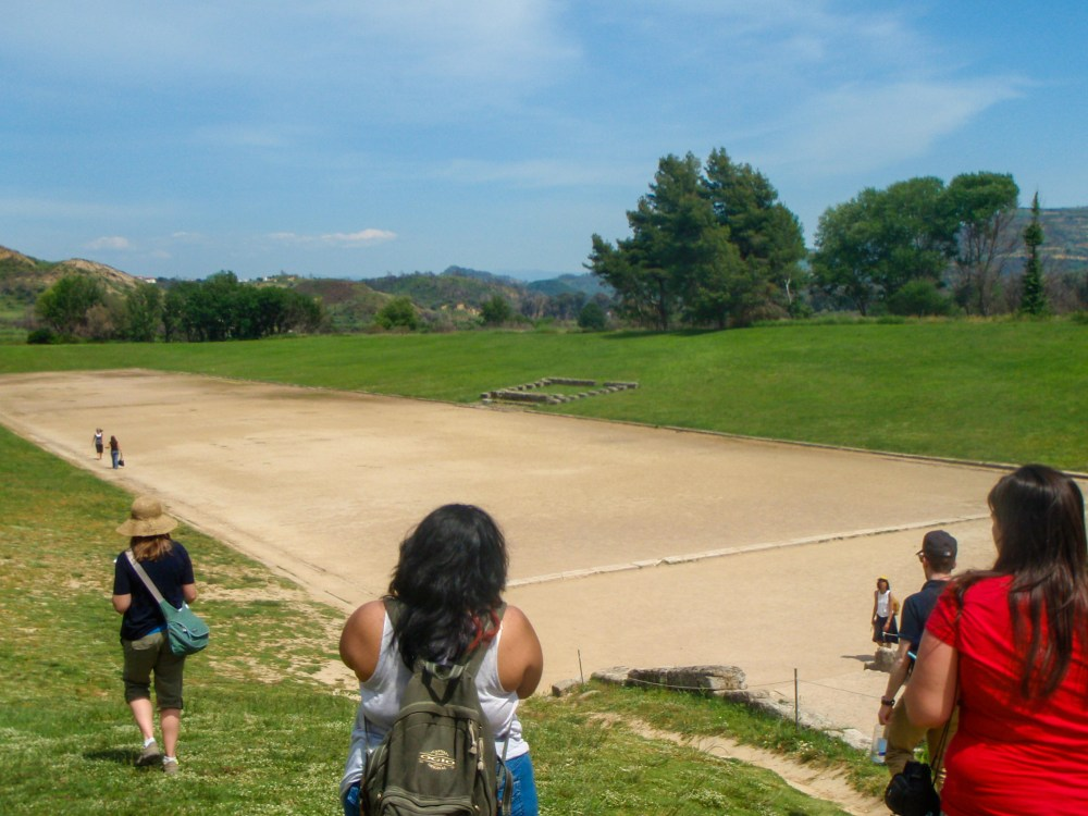 Visiting Archaeological Site of Olympia in Greece