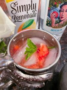 Strawberry Breeze Still Austin Gin Cocktail