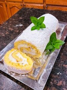 Mint Julep Cake Roll | Kentucky Derby Dessert