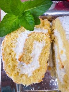 Mint Julep Cake Roll   Kentucky Derby Dessert