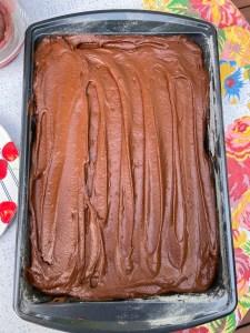 Chocolate Banana Sheet Cake