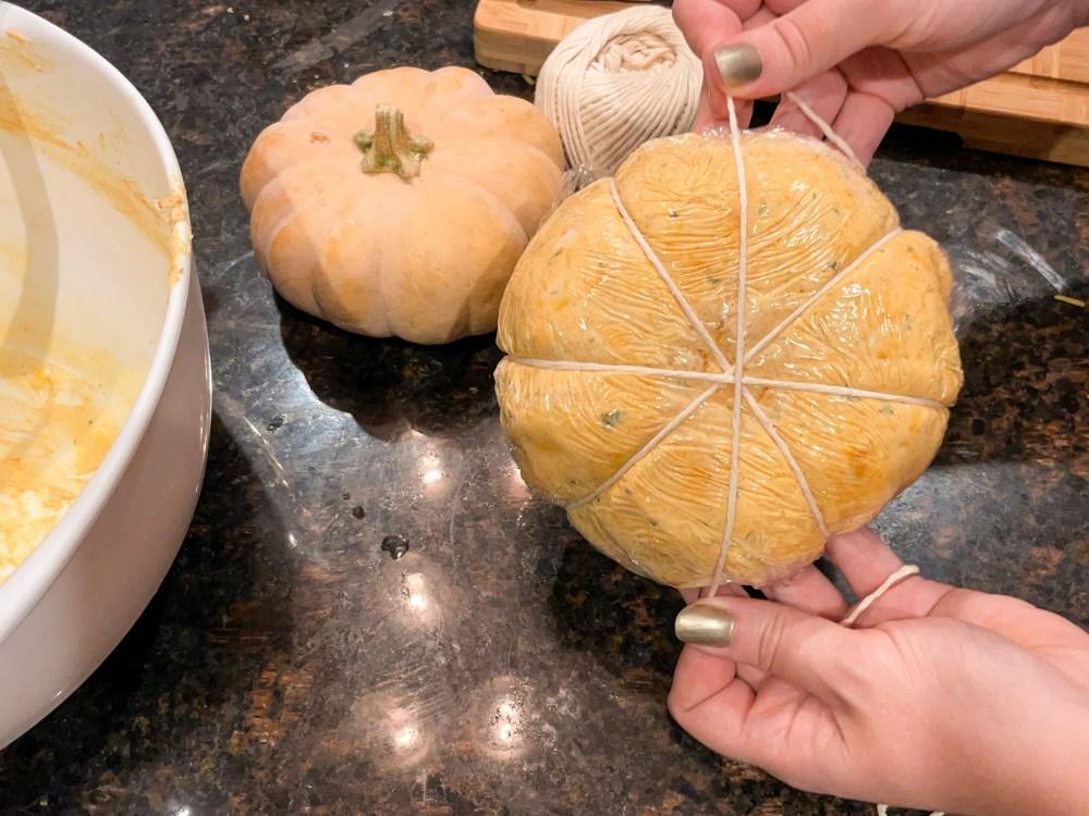 Pumpkin Cheese Ball | Halloween Appetizer | Cinderella Recipes