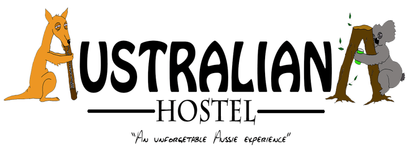 Australiana Hostel logo text 3