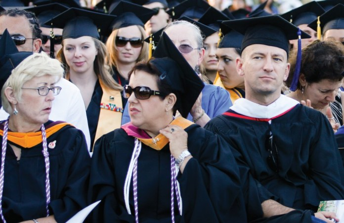 File photo from the Spring 2013 Commencement ceremony