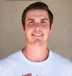 Pierce College's quarterback Sean Smith, at Los Angeles Pierce College on Sept. 28, 2015 in Woodland Hills, area of Los Angeles Calif. (Photo by: Edgar Amezcua)
