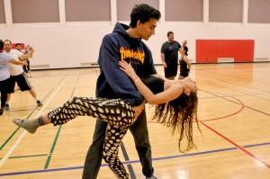 Hargun Singh and Taylor Sacks take up a salsa dance class at Pierce College on Nov, 20, 2016. Photo By: Sonia Gurrola