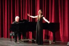 Samantha Rosenburg, Voice, and Lance Merrill, Accompanist, practices during AMP Recital in Woodland Hills, Calif on Nov. 1, 2018