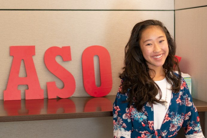Vivian Yee, Associated Students Organization (ASO) President, stands in the ASO building at Pierce College in Woodland Hills, Calif., on Nov. 4, 2019. Photo by Katya Castillo.