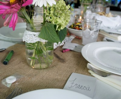 Francie's place card