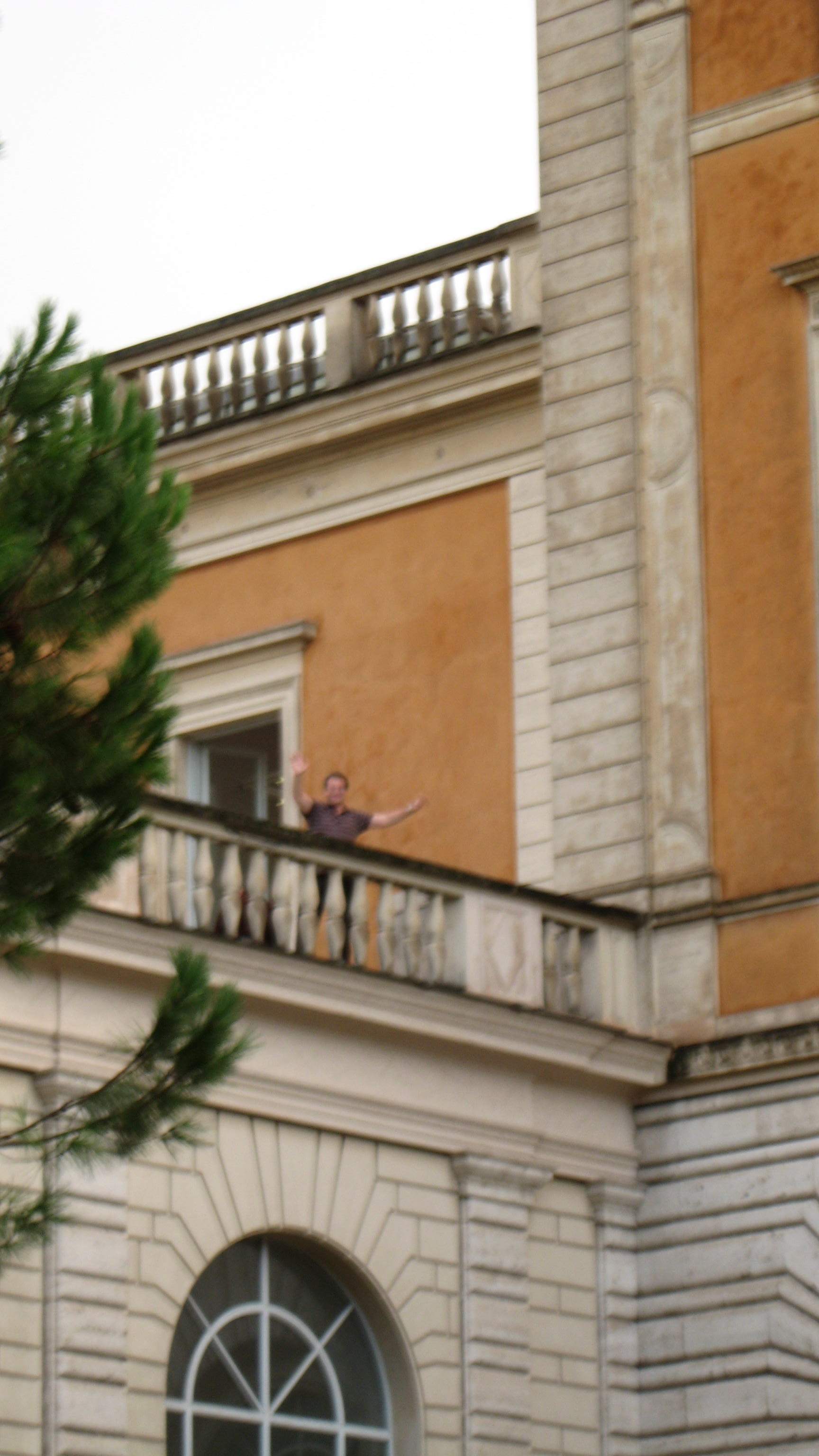 Peter on terrace