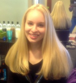Golden Blonde Highlights on Long Hair