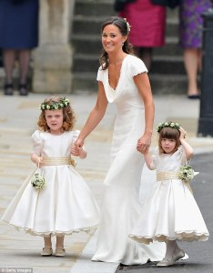 Pippa revealed years later that that her outfit was intended to be 'insignificant and blend
