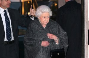 LONDON, ENGLAND: The Ivy by royal appointment. Queen Elizabeth II visits iconic west end restaurant The Ivy, West St, for a friends birthday