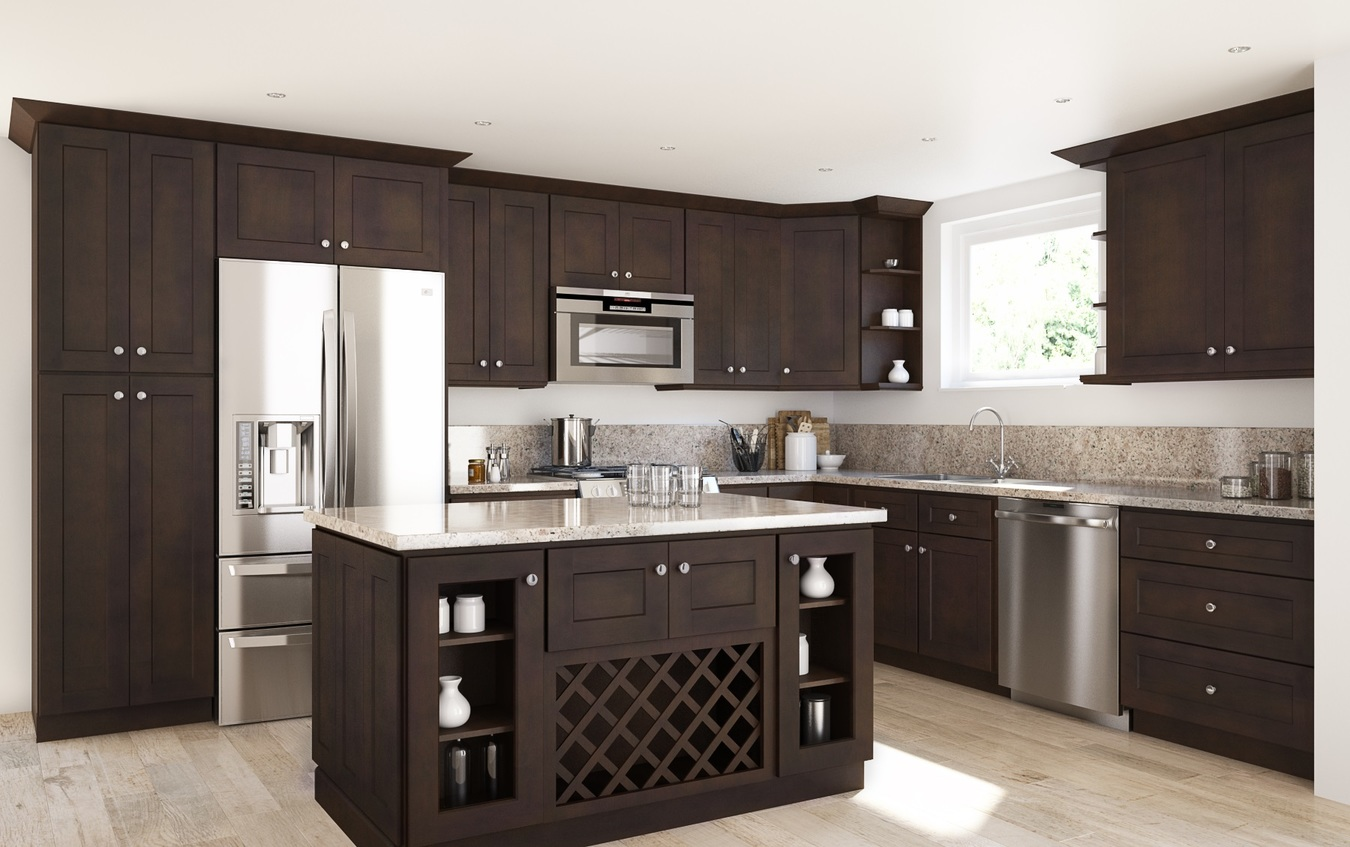 Coffee Shaker RTA Kitchen Cabinets