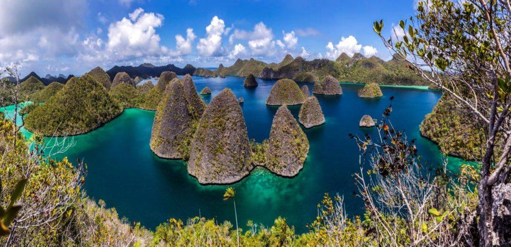 Some islands in Raja Ampat, Indonesia