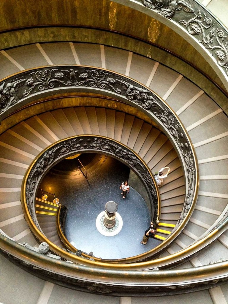 Vatican City Scavi Tour - The famous spiral staircase inside the Vatican Museum