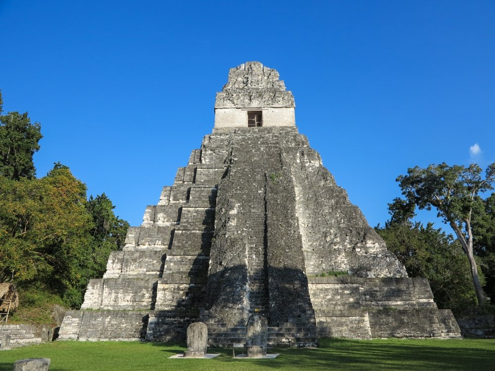 Temple I or the Grand Jaguar Temple, the iconic symbol of Guatemala.
