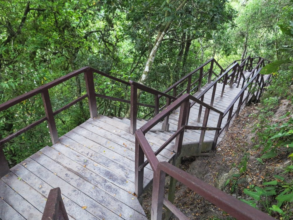 Wooden Staircase in Tikal national park