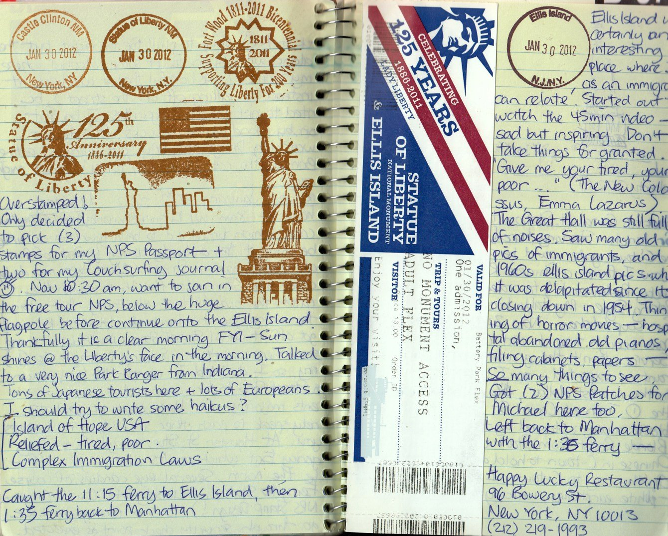 travel journal ideas: national park stamps
